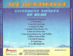 Joe Bonamassa – Different Shades Of Blue - Back