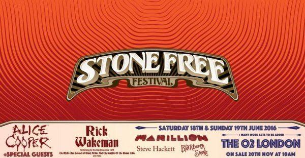 Stone Free Festival 2016 Announcement