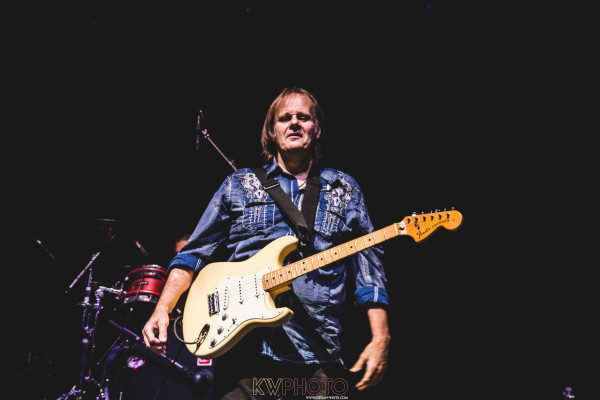 Walter Trout plays to fans at the O2 Forum, Kentish Town and invites his son John Trout to join him on stage along with British artist, Danny Bryant.