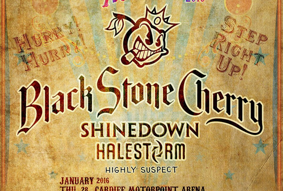 Carnival of Madness featuring Black Stone Cherry, Shinedown, Halestorm and Highly Suspect, February 2016, SSE Wembley Arena, Wembley, London, United Kingdom