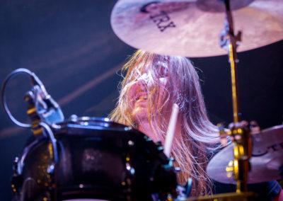 Dennis Holm on drums