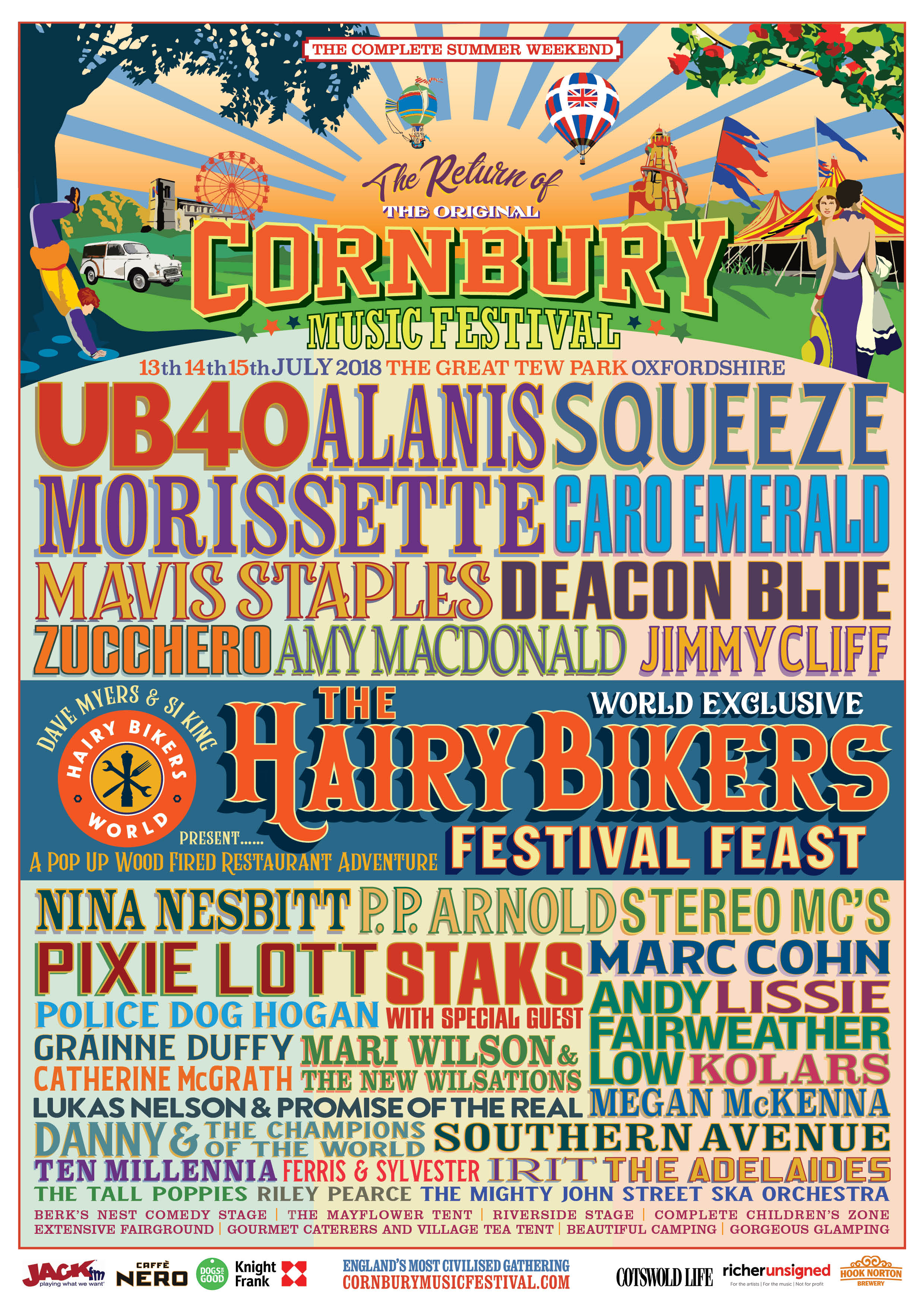 the hairy bikers announced for cornbury music festival 2018 - just