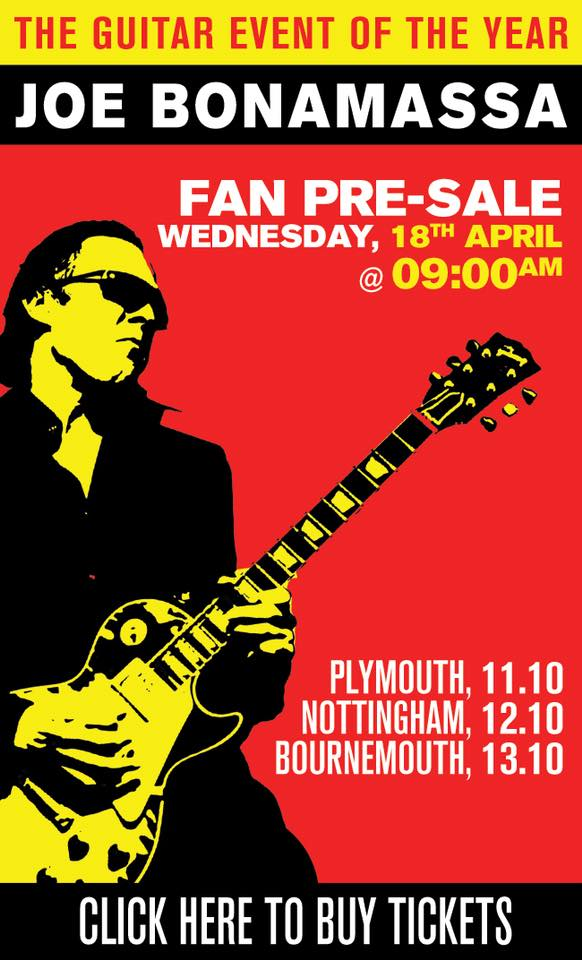 Image result for joe bonamassa bic 2018