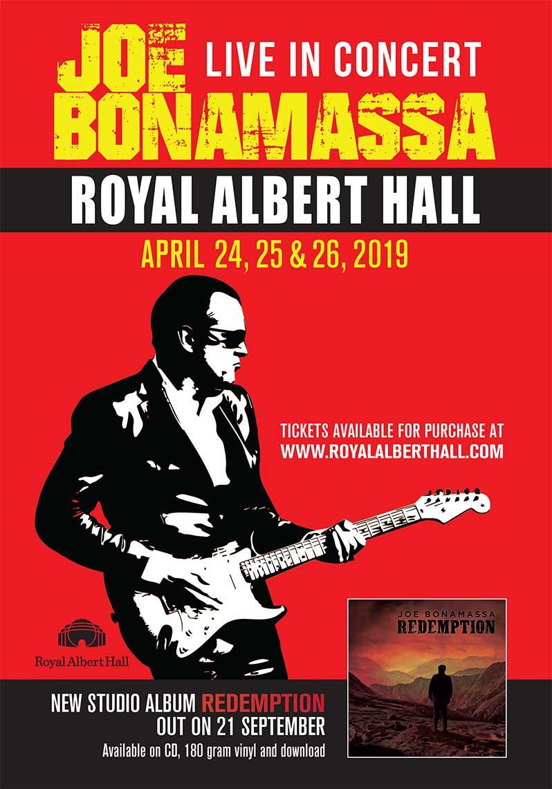 Joe Bonamassa Announces April 2019 London Royal Albert Hall Shows ...